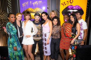 Max Jamali with Guests at Lips and Caviar Art Show