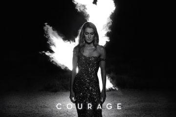 Celine Dion in a still from 'Courage'