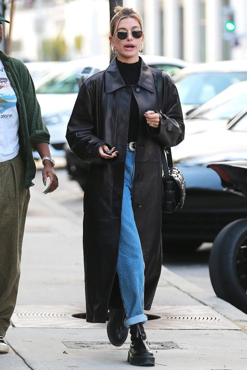 Hailey Baldwin Chic in Black