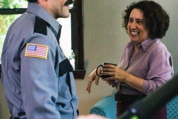 Eileen Galindo and Oscar Isaac
