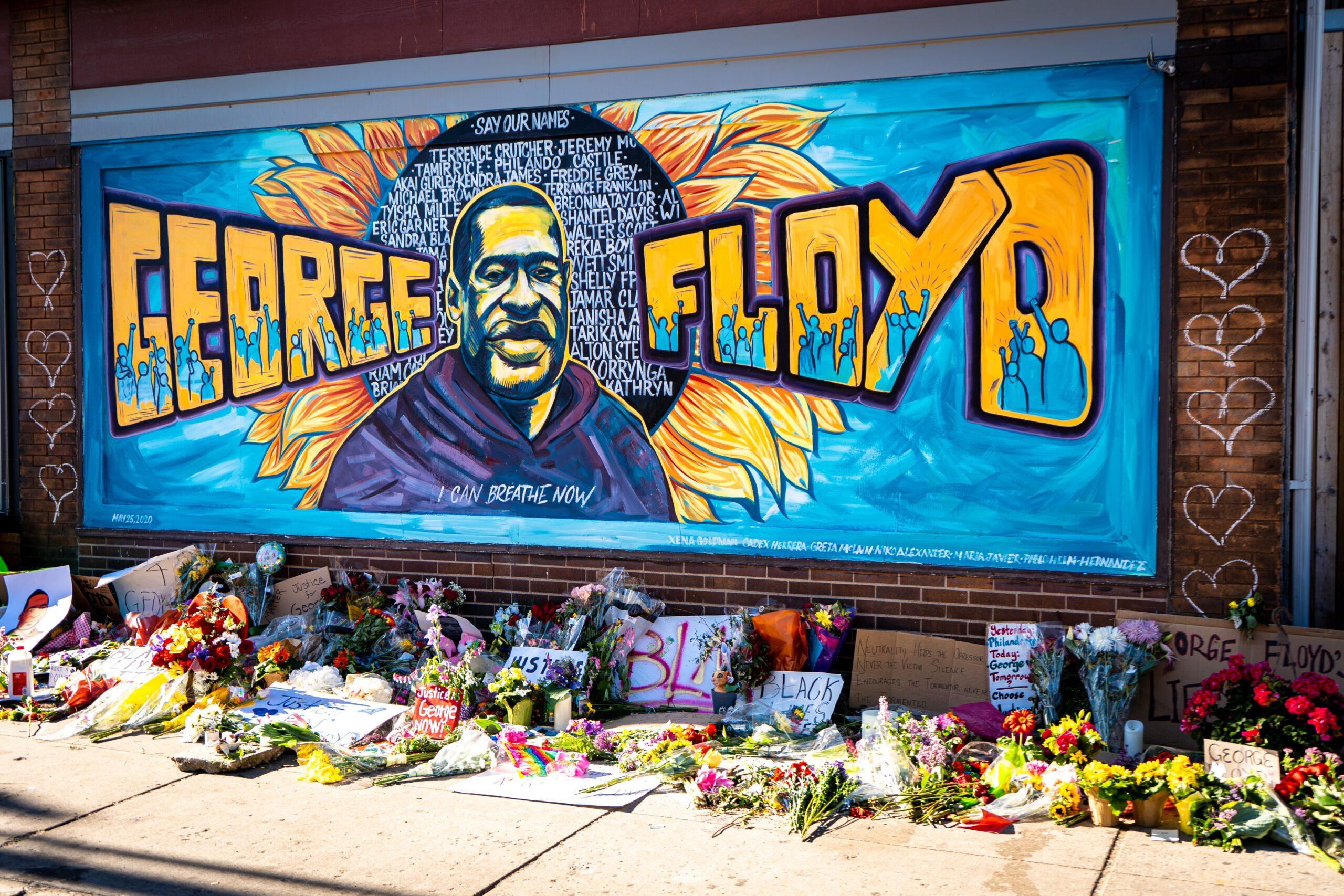 George Floyd mural in Minnesota