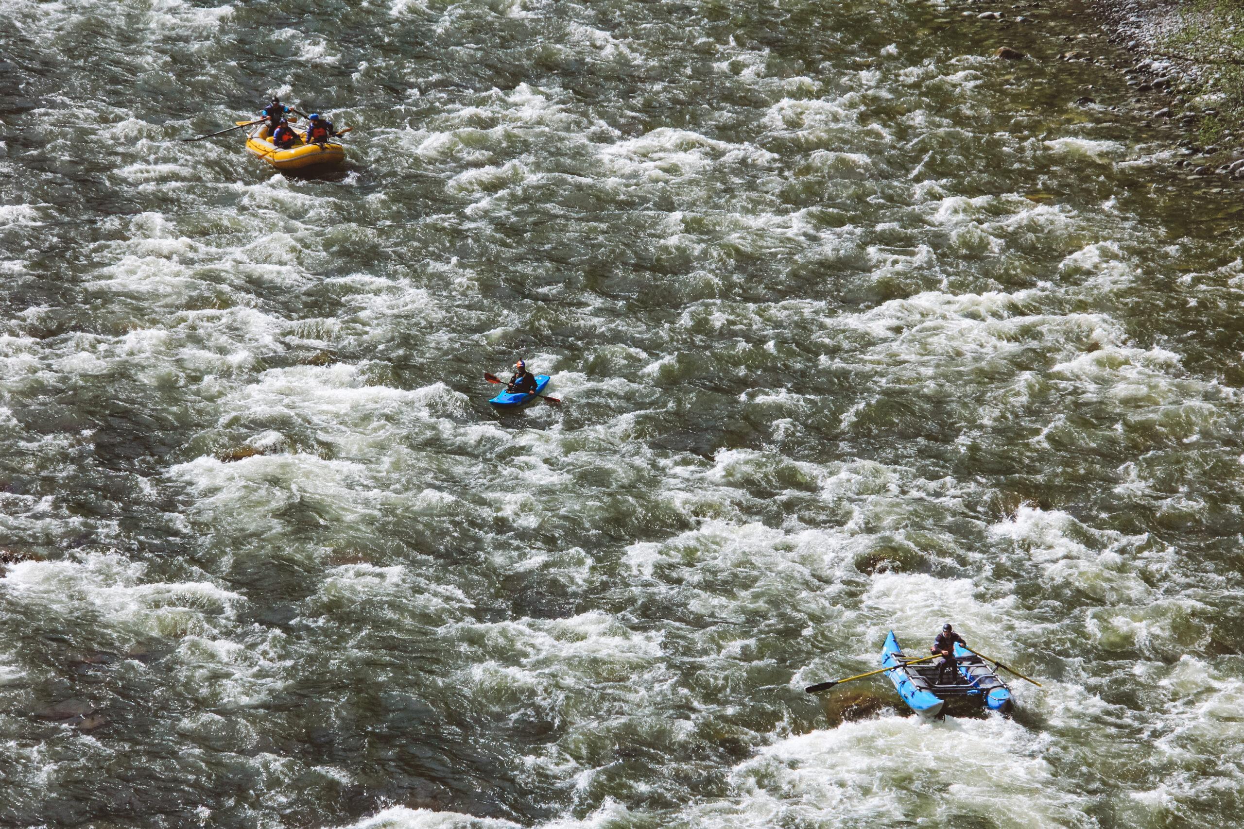 Raft, safety kayak, catamaran