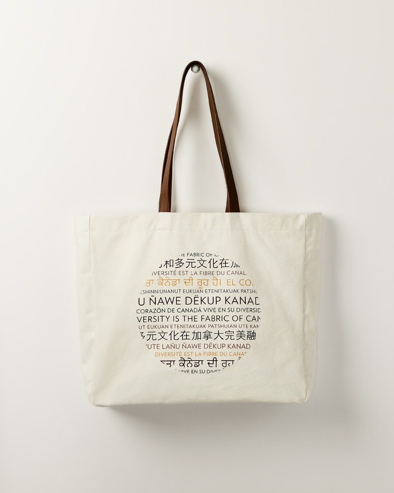 tote bag for retiman's limited edition fashion collection about diversity