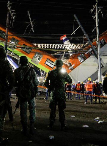 collapsed metro