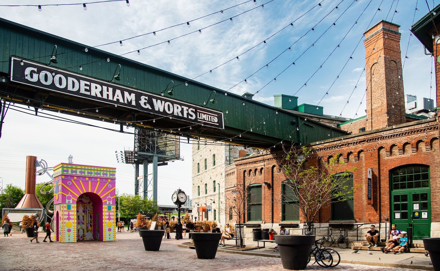 the arch in Toronto's infamous Distillery District