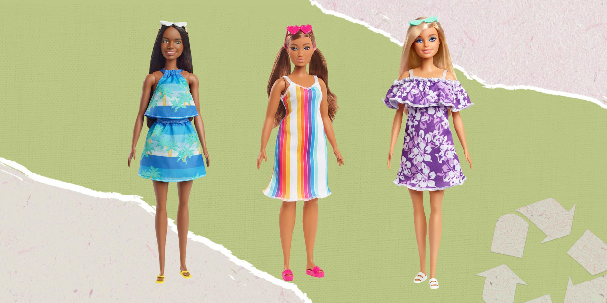 The Barbie 100% recyclable ocean plastic