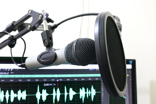 audio recording equipment, microphone and sound voice over
