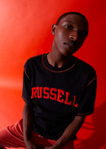 A$AP Worldwide x Russell Athletic Black Logo T-Shirt