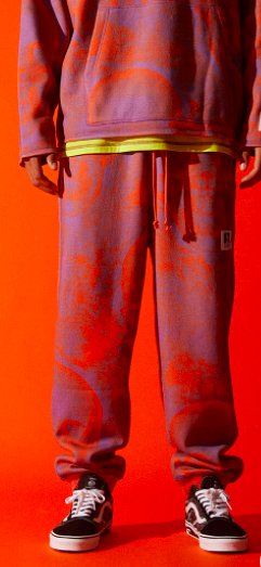A$AP Worldwide x Russell Athletic Rust Graphic Sweatpants