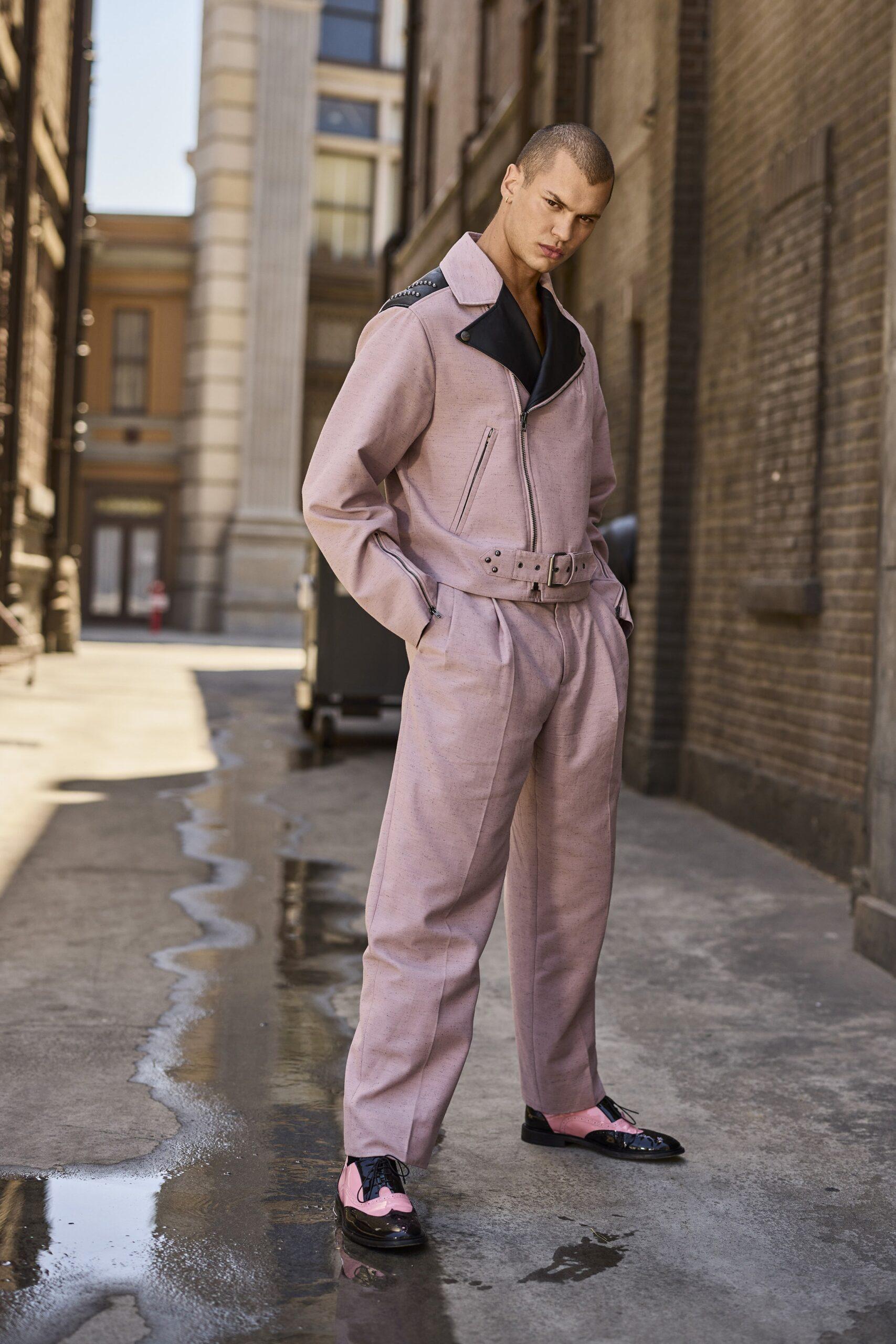 Pink Menswear Moschino